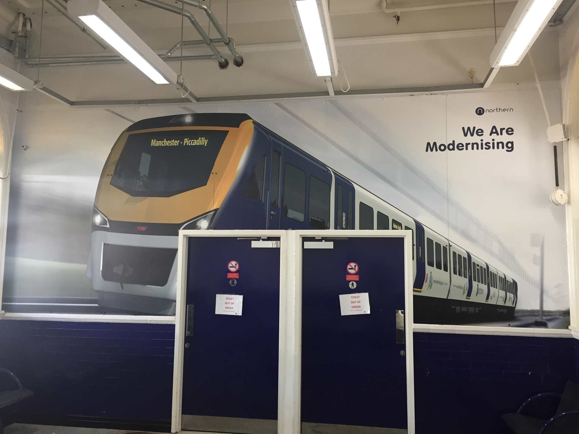 Waiting Room Makeover for Bolton Train Station